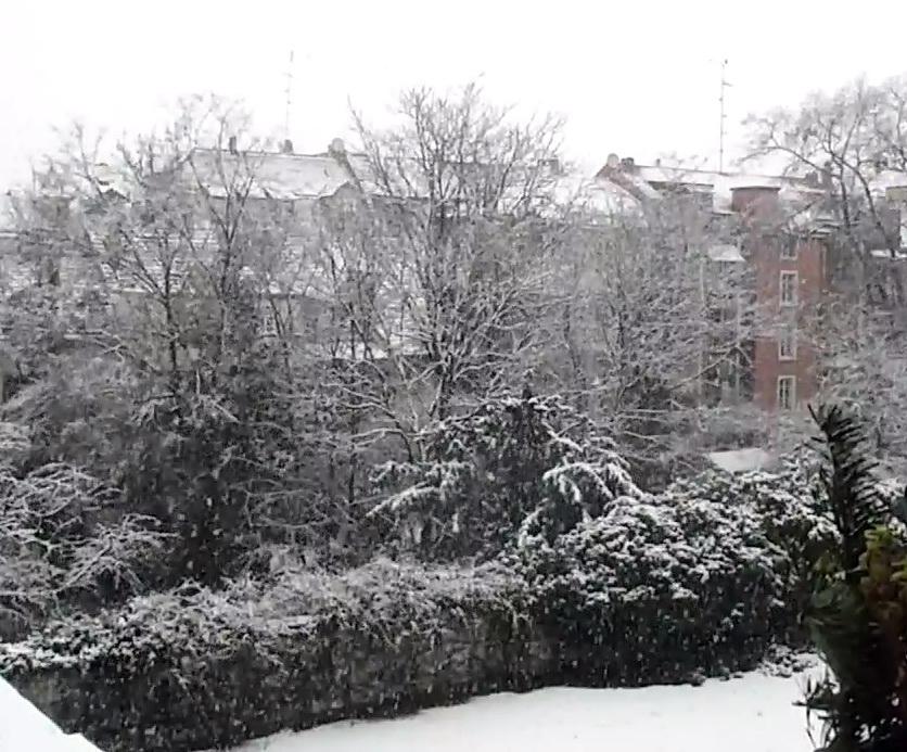 Schnee in Basel